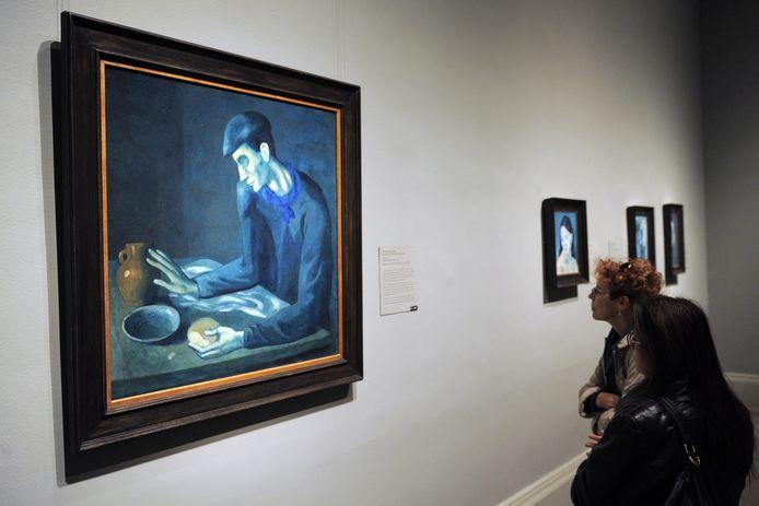 """""""Le petit-déjeuner de l'aveugle"""": sous cette peinture se trouvait """"Le nu accroupi solitaire""""."""