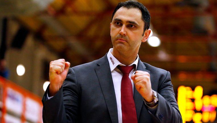 Coach van BC Oostende, Dario Gjergja. Beeld Photo News