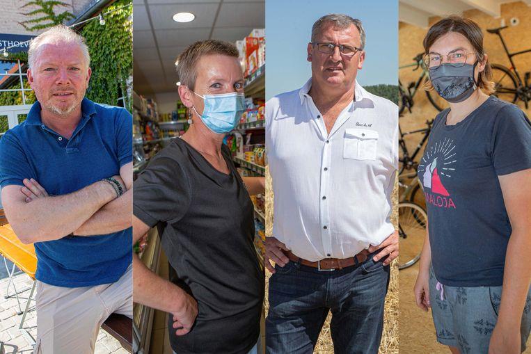 Thierry Van Vreckem (49), Sabrina Durieux (48), Dirk Willem (56) en Elke Bolangier (35) laten zich uit over de situatie.