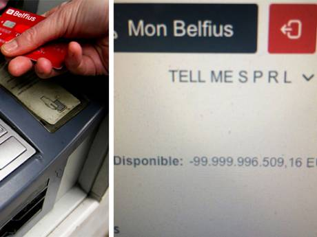"""Son compte en banque affiche soudainement un solde négatif de 100 milliards d'euros: """"Merci Belfius"""""""