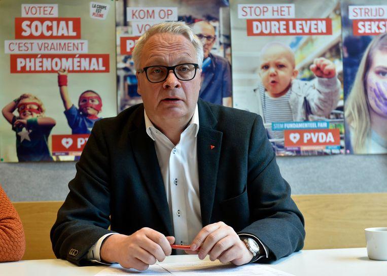 PVDA-boegbeeld en voorzitter Peter Mertens. Beeld Photo News
