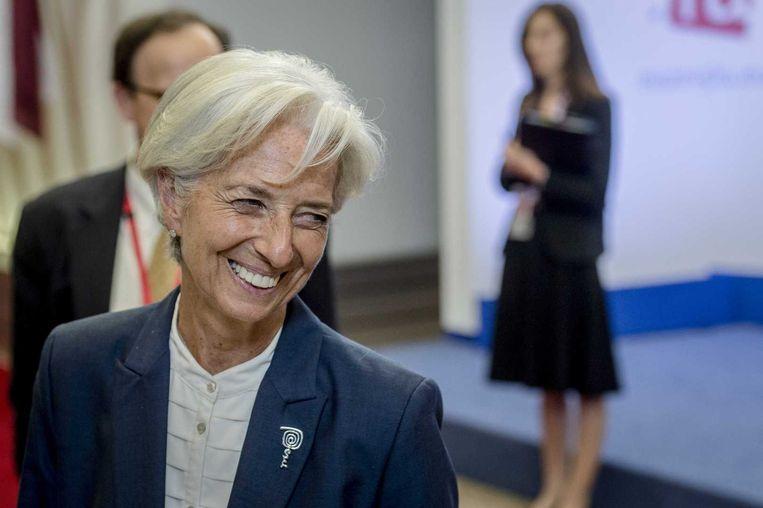 Christine Lagarde, directeur van het IMF. Beeld ANP
