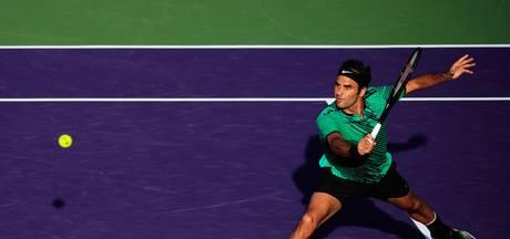 Federer en Nadal naar kwartfinales in Miami