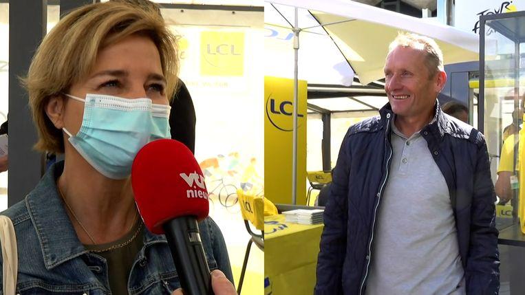 Moeder Corinne Poulidor en vader Adrie van der Poel. Beeld VTM NIEUWS