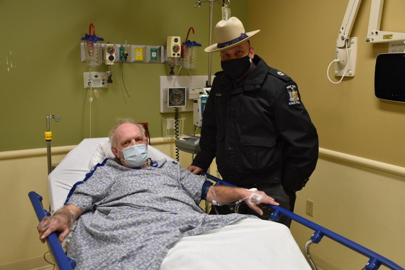 Kevin Kresen en zijn redder Jason Cawley