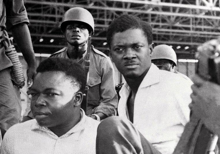 Congolees premier Patrice Lumumba na zijn arrestatie op 1 december 1960. Op 17 januari 1961 werd hij vermoord. Beeld AFP