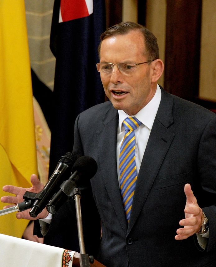 De Australische premier Tony Abbott