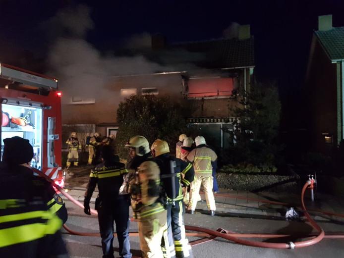 Uitslaande woningbrand in Haaksbergen