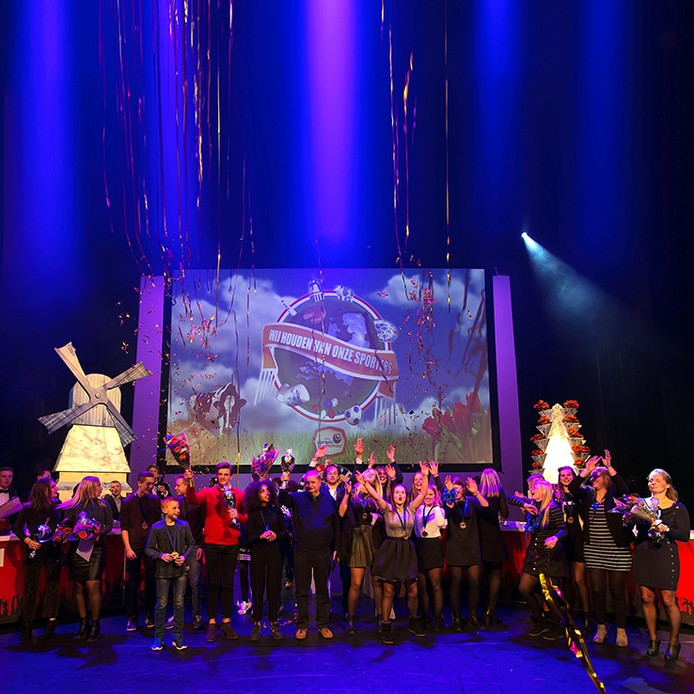 De winnaars van het jaarlijkse sportgala in theater de Bussel in Oosterhout