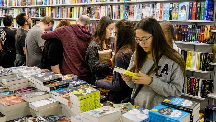 Drukte op de Boekenbeurs vorig jaar (archieffoto)