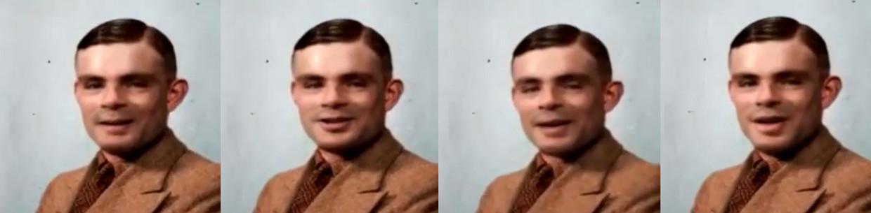 Een deepfake van Alan Turing.  Beeld Trouw