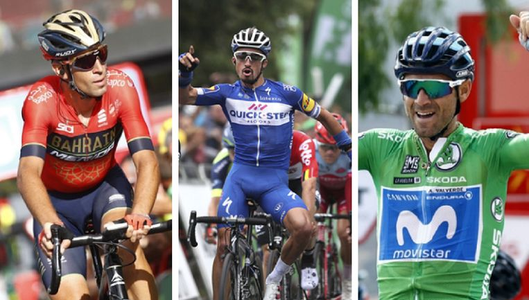 Vincenzo Nibali - Julian Alaphilippe - Alejandro Valverde.