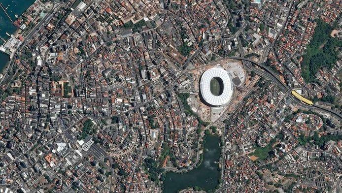 Luchtfoto van de Braziliaanse stad Fortaleza