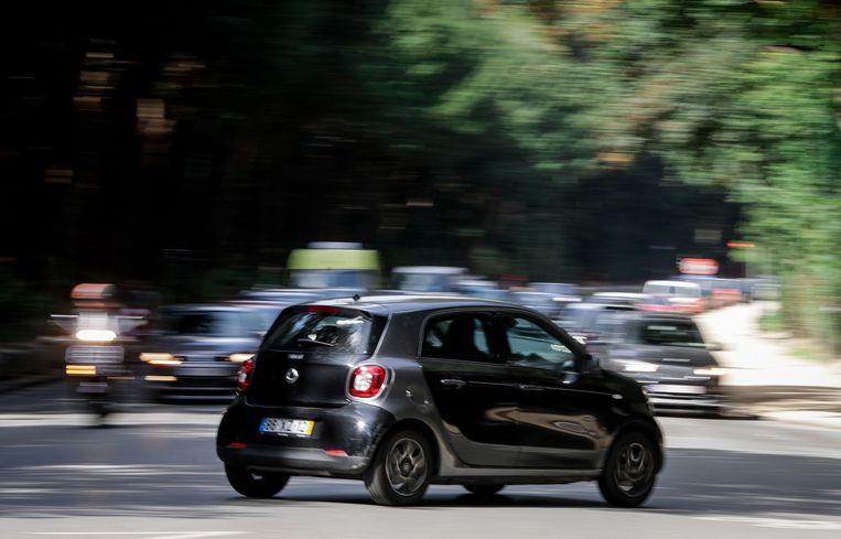 Autoverkeer in Brussel. Beeld EPA