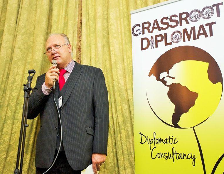 Marc Stockbroekx, CEO van Diplomatic Card Services. Het bedrijf van Stockbroekx werd ingeschakeld voor bestrijding van de fraude met diplomatenpasjes.Maar de man heeft zelf een strafblad waar menig fraudeur een flinke punt aan kan zuigen. Beeld rv