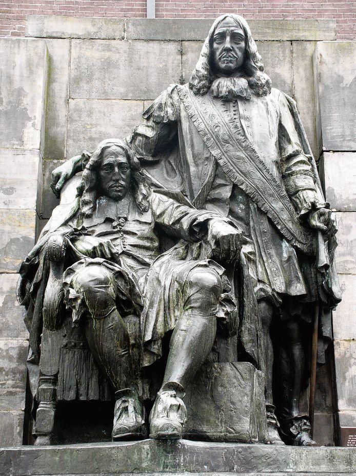 Johan en Cornelis de Witt sieren de binnenstad van Dordrecht.