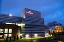De Emergent Biosolutions-fabriek in Baltimore.