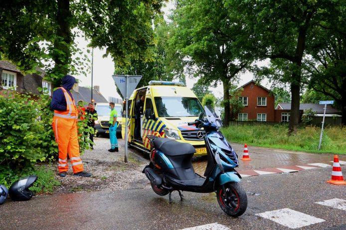 Ongeval tussen een scooter en een auto
