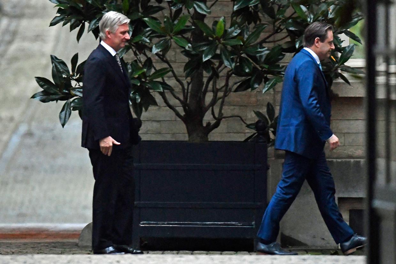 Koning Filip ontving maandag N-VA-voorzitter Bart De Wever op het paleis in Brussel.