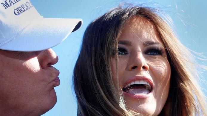 De Amerikaanse presidentskandidaat Donald Trump en zijn vrouw Melania.