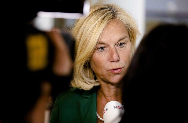 Minister Sigrid Kaag voor Buitenlandse Handel en Ontwikkelingssamenwerking (D66) in het Ministerie van Algemene Zaken na afloop van de ministerraad. Beeld null