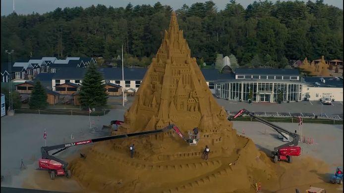 Le château de sable le plus haut du monde a été construit dans le nord du Danemark.