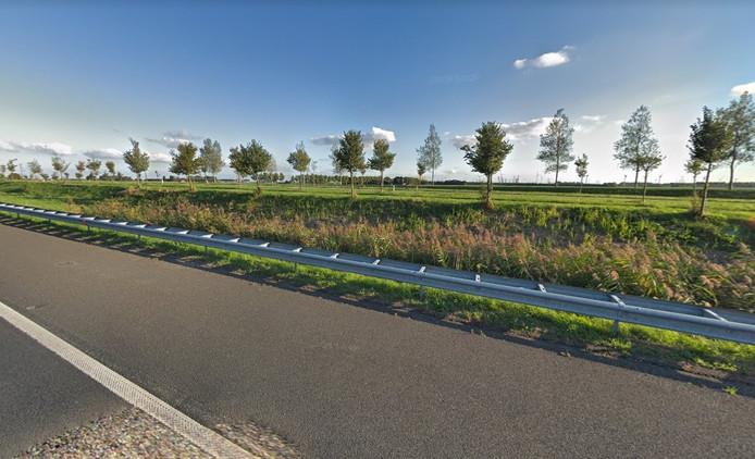 De Quarlespolder gezien vanaf snelweg A58.
