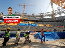 Een boycot? Je zal maar gestorven zijn bij de bouw van een WK-stadion waarin nooit een WK wordt gespeeld