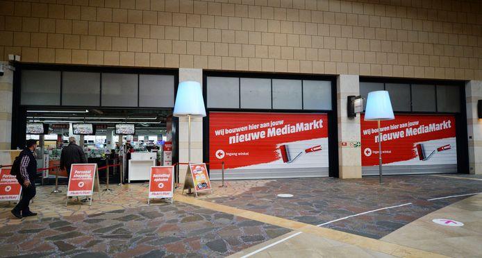 Er wordt al druk gewerkt aan de verbouwing van de vestiging van MediaMarkt in de Klanderij