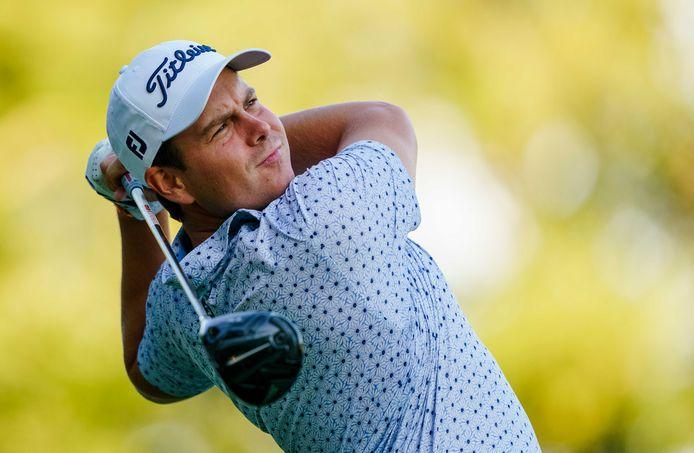 Golfprof Lars van Meijel uit Best bij de Dutch Open in Cromvoirt.