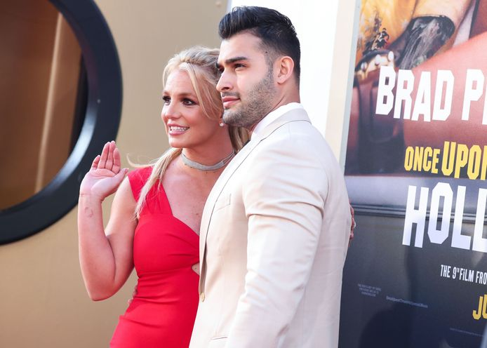 Britney Spears en haar vriend Sam Asghari.
