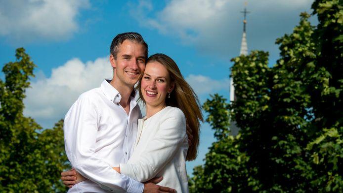 Denny van Brenk met zijn vrouw.