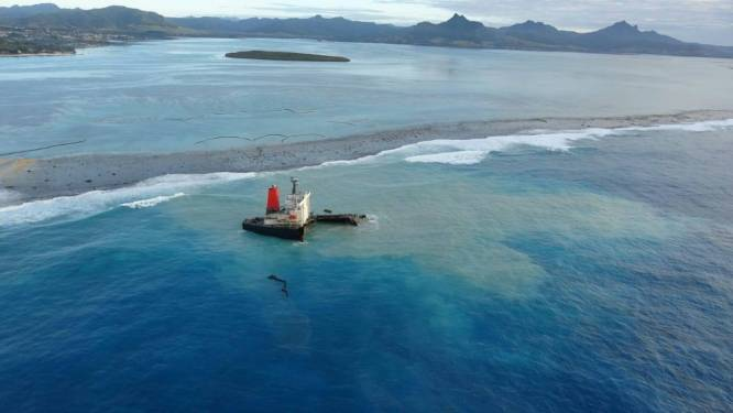 """Experts: """"Olievervuiling Mauritius bedreigt koraal op lange termijn"""""""