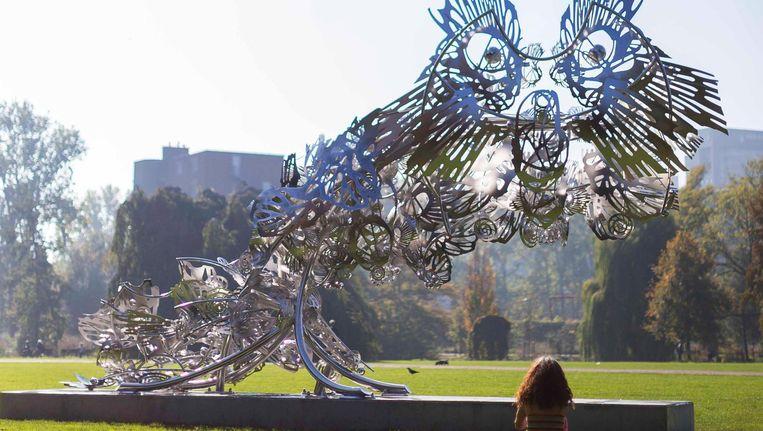 Het monument Future Past Glory ter ere van Jakoba Mulder in het Beatrixpark Beeld Rink Hof