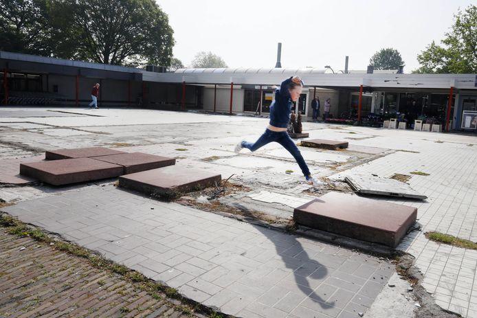 Winkelcentrum Weezenhof in 2019, twee jaar na de brand.