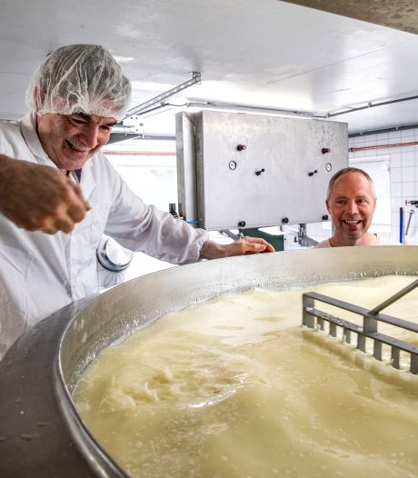 Bijzondere samenwerking tussen Twellose boer Evert-Jan en Syrische kaasmaker Aref blijkt succesformule: 'Het is knetterdruk'