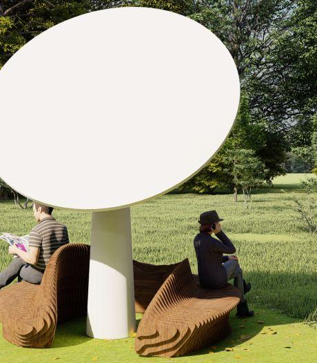 Studenten uit Zwolle ontwerpen hippe bank voor bij deze bijzondere uitvinding