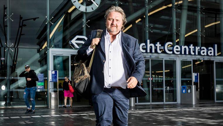Ruud Koornstra stuitert de godganse dag van vergadering naar lezing, van peptalk naar innovatief bedrijf, van geldverstrekker naar uitvinder. Beeld Jiri Buller / de Volkskrant