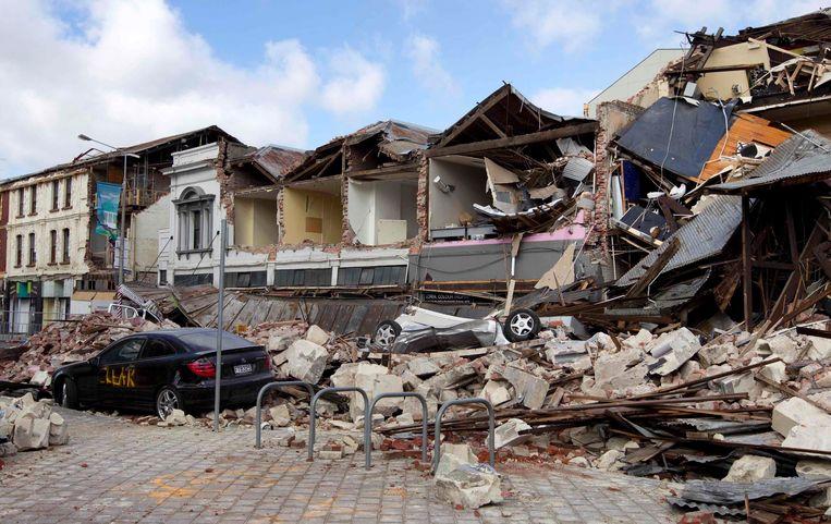 Christchurch na de aardbeving van 22 februari 2011. Beeld REUTERS