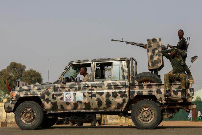 Veiligheidstroepen in Nigeria.