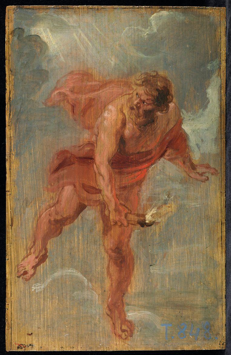 De schets van 'Prometheus' is veel wilder dan de latere versie.  Beeld Prometheus,  Museo Nacional del Prado