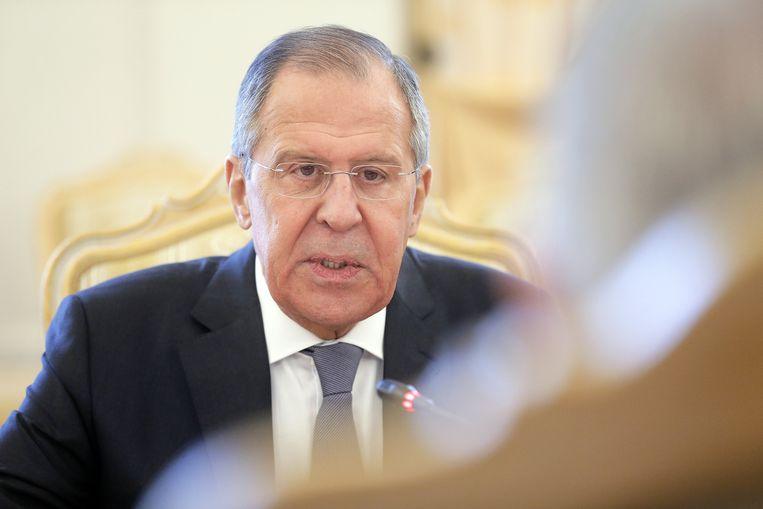 """De Russische minister van Buitenlandse Zaken Sergej Lavrov: """"Londen weigert de stof te geven waarmee de moord werd gepleegd."""""""
