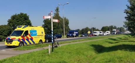N348 dicht bij Raalte na ongeval op rotonde