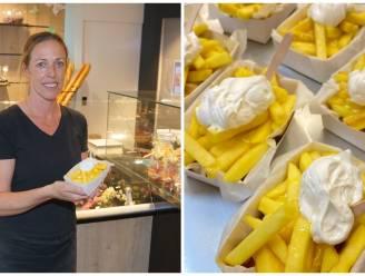 """Daarom schuiven mensen bij bakker Kris vandaag aan voor een pak friet met mayonaise: """"Geen zout maar wel wat extra suiker aub"""""""