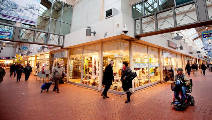 Het winkelcentrum in Overvecht