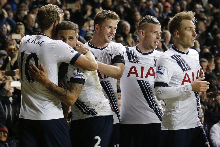 Tottenham wint van West Ham United. Beeld null
