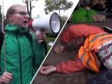 Demonstranten liggen 'dood' op straat bij Klimaatdemonstratie Eindhoven: 'We moeten nu echt actie ondernemen'