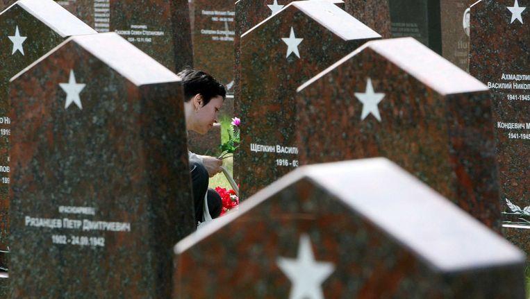 Een militiare begraafplaats in Moskou. Beeld afp