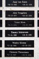 Youri's naam hangt in e eregalerij van NEC in de  gracht voor de Hazenkamptribune, samen met die van onder andere journalist van De Gelderlander Jaap van Essen.