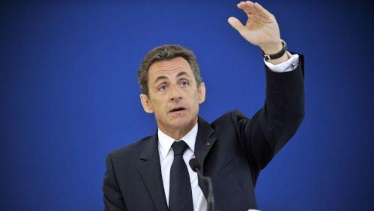 De Franse president Nicolas Sarkozy. Foto ANP Beeld